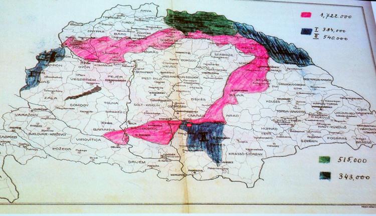 A lecsökkentett magyar területi igények