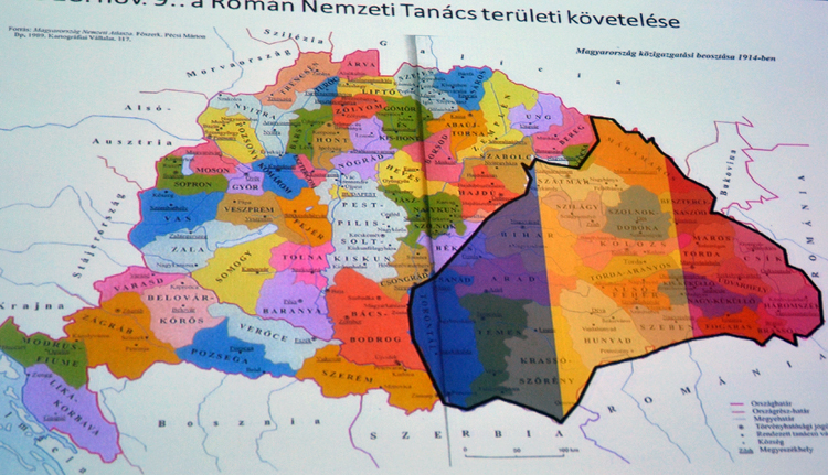 A Román Nemzeti Tanács területi követelése