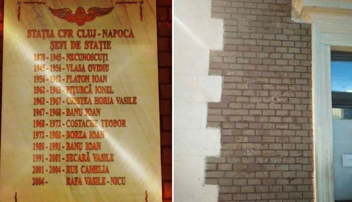 Eltávolították a diszkriminatív vasúti névtáblát Kolozsváron